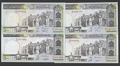 500 RIALS sign 28,30,31,33  ND (2003-) P 137Aa  to 137Ad UNC