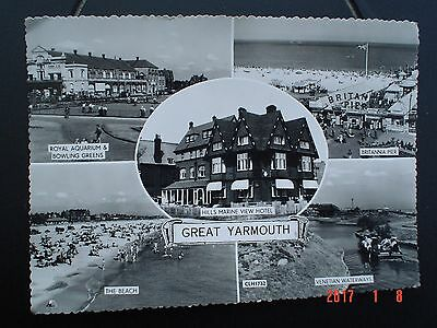 Postcard BW Multiview Great Yarmouth Norfolk
