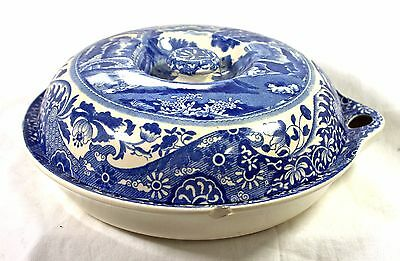Copeland Spode Italian Blue Warming Dish/ Hotplate Lidded Very Rare Collectible