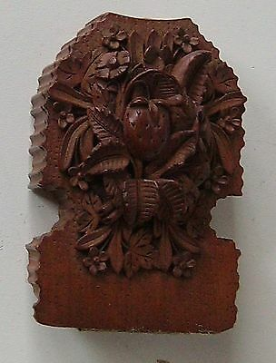 Carved Wood Box Stand Victorian Pocket Watch Holder Watch Stand Black Forest