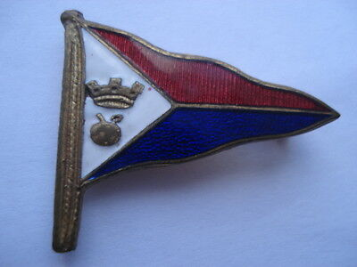 C1960S Vintage Brixham Yacht Club Burgee Enamel Pin Badge