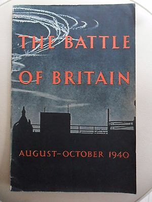 Collectable WW II The Battle of Britain 1940 Brochure History  HMSO  Dated 1941