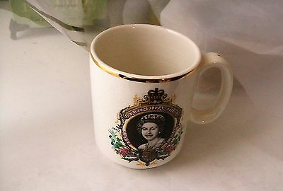 Vintage 1977 Queen Elizabeth Lord Nelson Pottery MUG made in England