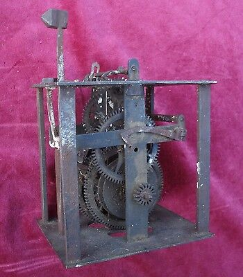 Single Handed Posted Frame 30 Hour Movement Mid 18Th C  #2