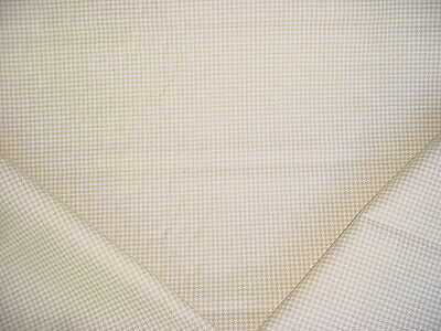15+Y Ralph Lauren Luxurious Sand / White Linen Houndstooth Upholstery Fabric