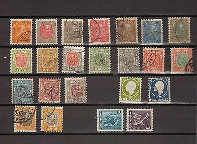 Iceland.1902-1911. A selection of mostly used stamps.