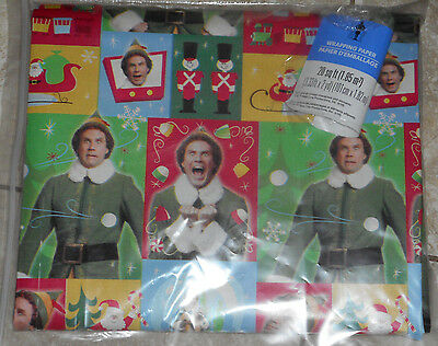 USA MADE ELF the MOVIE WILL FERRELL CHRISTMAS Wrapping PAPER 20 SQ FT FOLDED