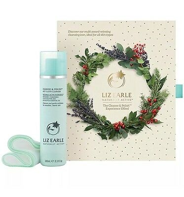 Liz Earle Cleanse and Polish Experience 100ml Gift Set With 2 Cloths
