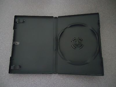 30 Black CD / DVD Cases - Case Lot of 30  With Clear Plastic Title Sleeve