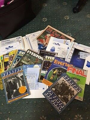 Everton programme collection - 50 years