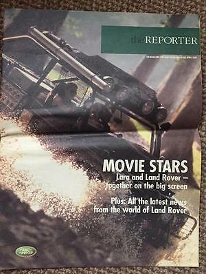 The Reporter Magazine-Lara Croft and Land Rover. April 200. Collectable Brochure