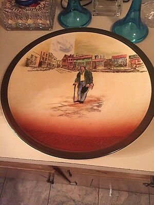 """Old Peggoty"" Plate By Royal Doulton"