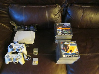Sony Playstation One Slim Console & Bundle of PS1 Games