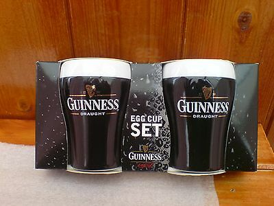 New Boxed Ceramic Guinness Egg Cup Set - Guinness Collector