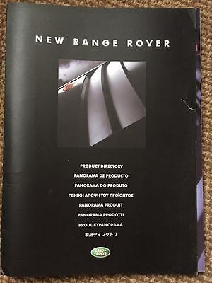 Land Rover -NEW RANGE ROVER Product Directory Brochure 2001 PRINTED