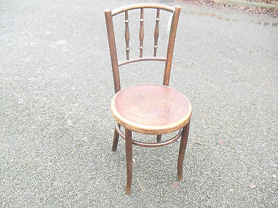 Lovely Very Clean Beech 1910 Era Bentwood Fischel Cafe Bistro Chair