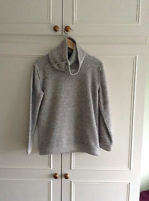 Girls River Island High Neck Grey Jumper Size 11/12 years