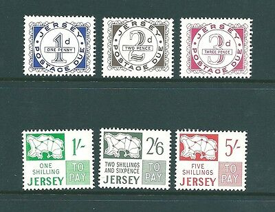 JERSEY 1969 Postage Dues - SG D1-6 Unmounted Mint
