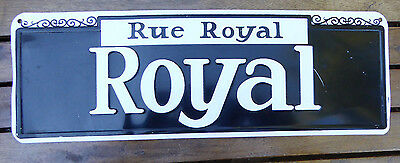 "Royal Street STREET SIGN metal print ""tin sign"" Rue Royal New Orleans Mardi Gras"