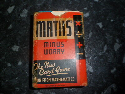 Pack of Maths playing cards