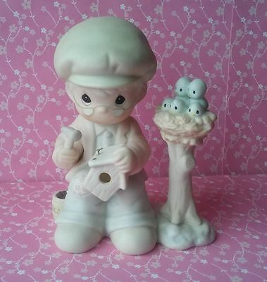 """Precious Moments Only Love Can Make A Home Porcelain Figurine 4.5"""" 1991 Enesco"""