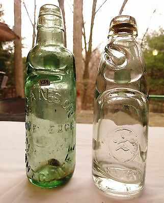 English Codd Lot of 2 Mineral Waters - Lightcliffe, Natraj