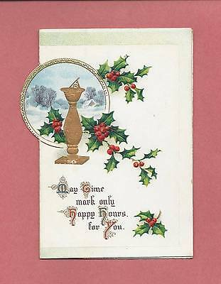 Lovely Authentic Victorian Fold-Out German-Made CHRISTMAS Greeting Card
