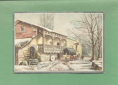 RURAL HOME ON A WINTERY DAY On Beautiful VICTORIAN CHRISTMAS Greeting Card