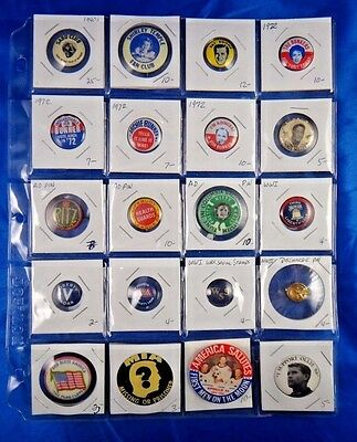 Lot of 20 Pins Pinbacks Buttons Advertisement Ritz Shirley Temple Liberty Loan