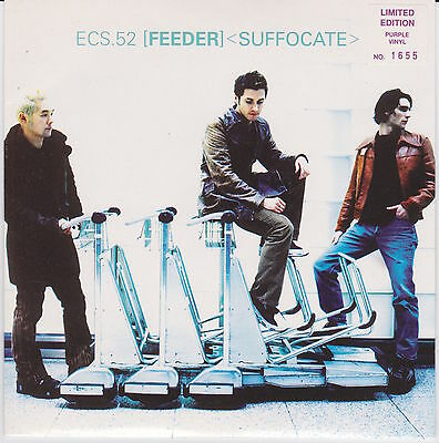 """Feeder - Suffocate - Scarce UK Limited Edition Numbered PURPLE vinyl 7"""""""