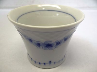 Single B&G 219 Bing Grondahl Empire Blue White Floral Swags Porcelain Cigar Cup