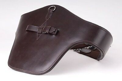 """Windsor Equestrian Leather Padded Stud Guard Jumping Girth Black 44"""""""