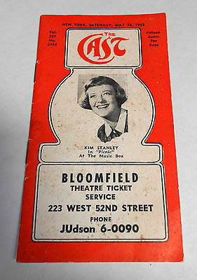 """May 16,1953 """"The CAST""""  Theatre Guide Casts And Schedules Of 18 Broadway Shows"""