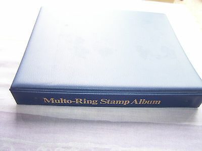 Vintage Multo-Ring Stamp Album With 82 Pages & Stamps 1960's 70's World