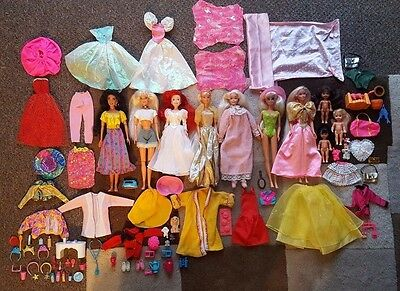 Large Collection Barbie Sindy Disney Skipper Shelly Dolls Accessories & Clothes