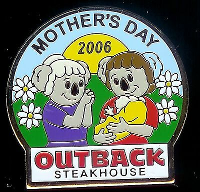 J2684 Outback Steakhouse hat lapel pin Mothers Day 2006