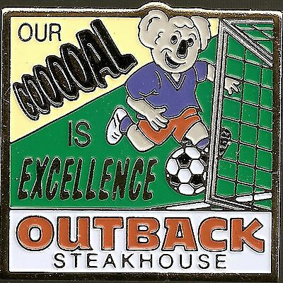 J3342 Outback Steakhouse hat lapel pin Our Gooooal is Excellence