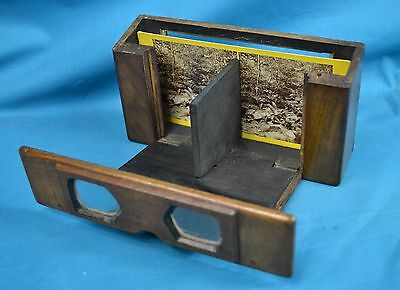 V. Rare Early c1855 Stereoscope Stereoview Viewer By Henry Disney Francis London