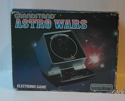 Grandstand Vintage Electronic Astro Wars Game Boxed 1981 Made In Japan Tested
