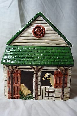 Block Country Village by Gear Horse Stable Cookie Jar Canister