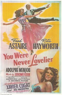Fred Astaire And Rita Hayworth 11 X17 Color Poster 1943 Glossy Paper Board