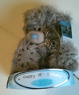 """Me to you bears 14 cm high  """"!8th birthday"""" tagged"""