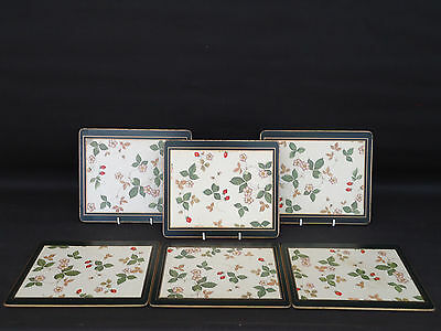 Wedgwood Wild Strawberry Table/place Mats Set Of 6