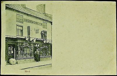 Meek Ironmongers, Glasgow, Scotland. Unposted Postcard C 1905. Local Publisher