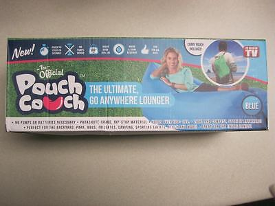 The Official Pouch Couch Blue Color As Seen on TV