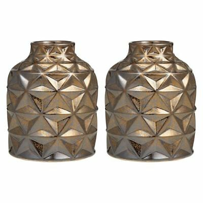 NEW Amalfi Facet Vase, Gold (Set of 2)