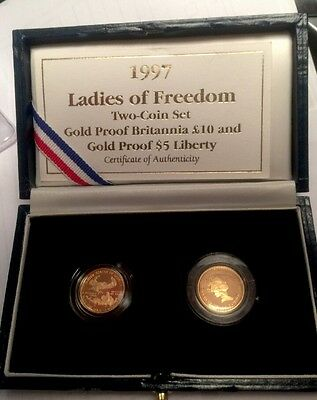 1997 Ladies Of Freedom 2-Coin Gold Proof Set