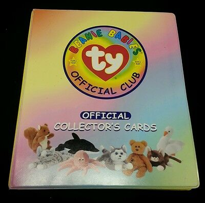 TY BEANIE BABIES OFFICIAL COLLECTOR CARDS ALBUM W/ 200 Series I Cards