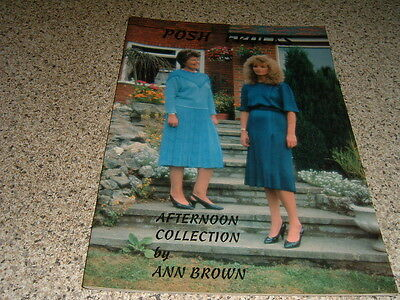 Machine Knitting Pattern Afternoon Collection  By Ann Brown Posh Frocks