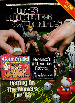 February 1983 Toys Hobbies & Crafts magazine - Toy Fair issue -great ads